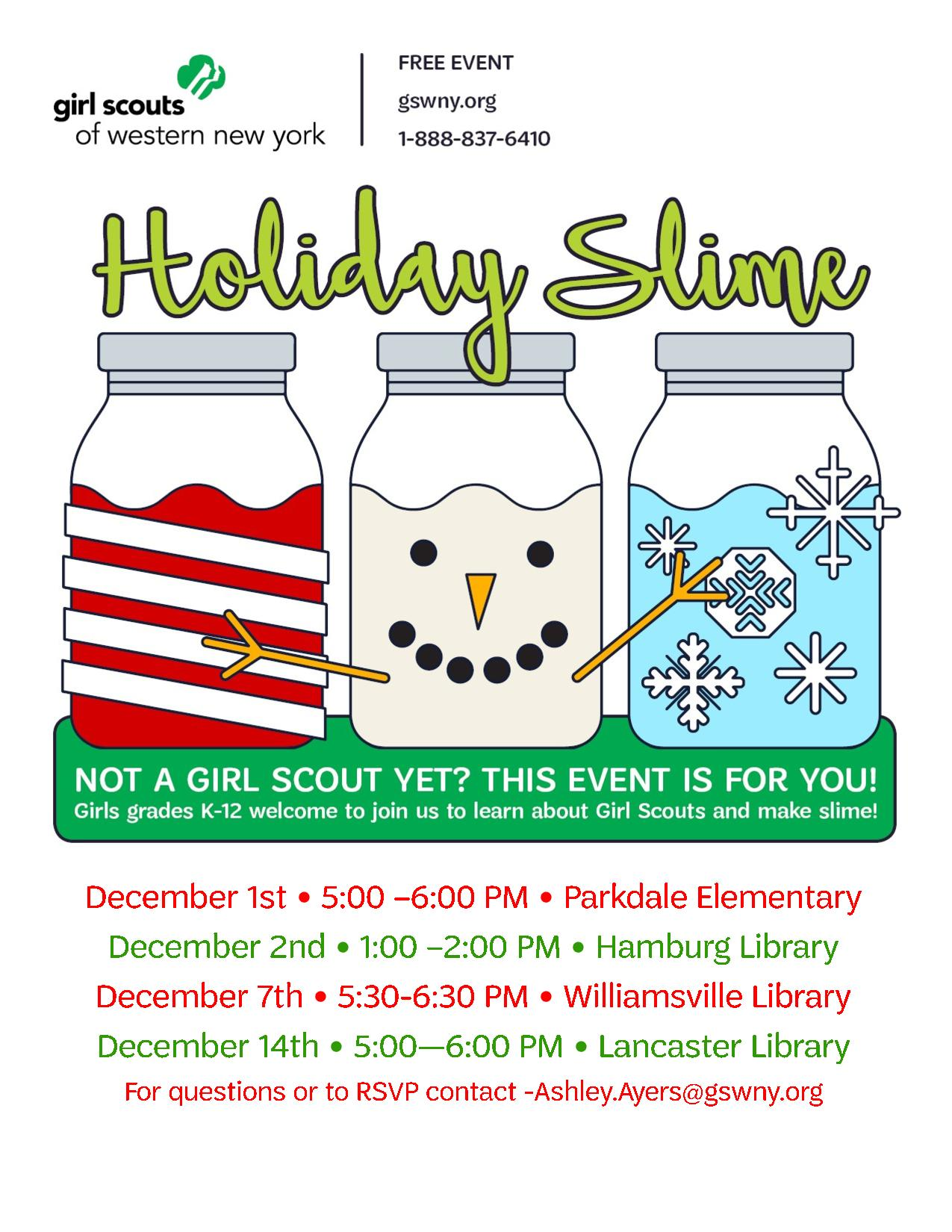 Make Your Own Holiday Slime With Girl Scouts