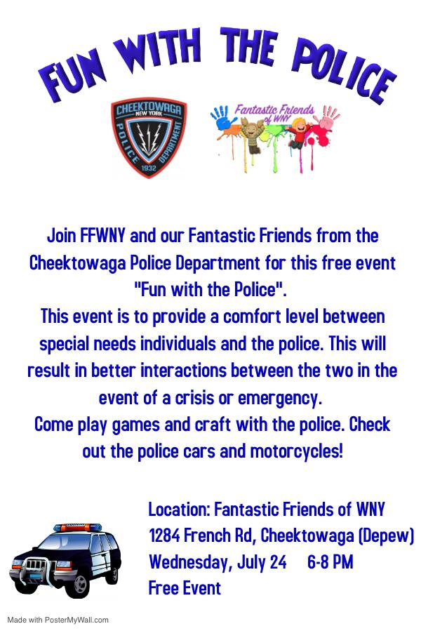 Fun With The Police Hosted By Fantastic Friends Of Wny