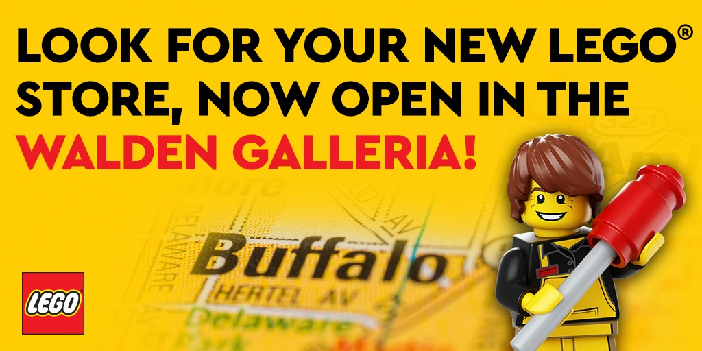 LEGO store is open in Cheektowaga NY at Walden Galleria