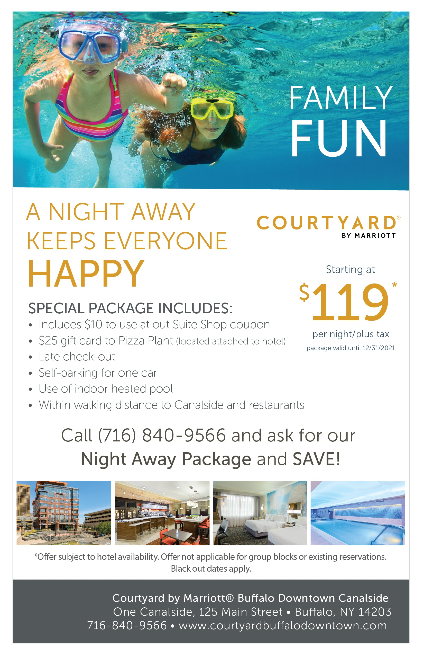 A night away at the Marriott Canalside
