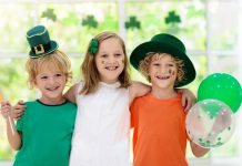 Kids Celebrating St. Patrick's Day at Home