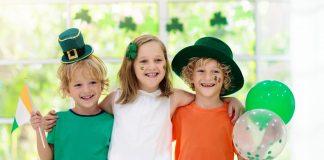 Kids Celebrating St. Patrick's Day at Home